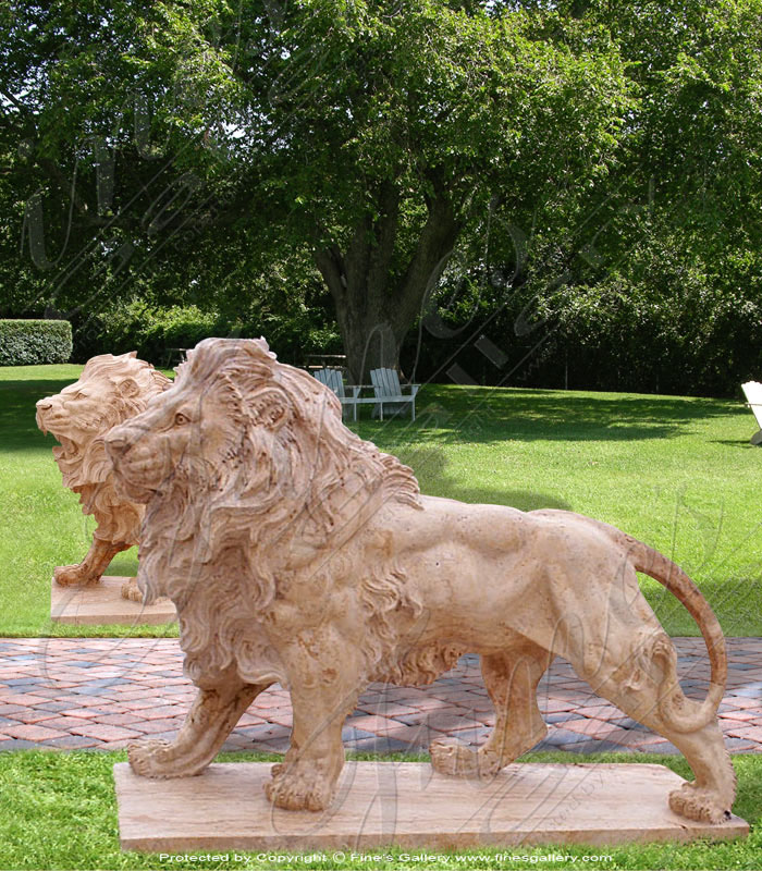 Bronze Statues  - King Of The Jungle Bronze Statue - BS-182