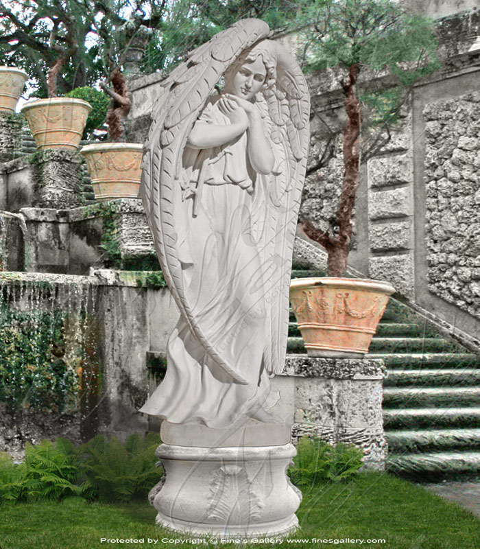 Search Result For Marble Statues  - Loving Angel - MS-512
