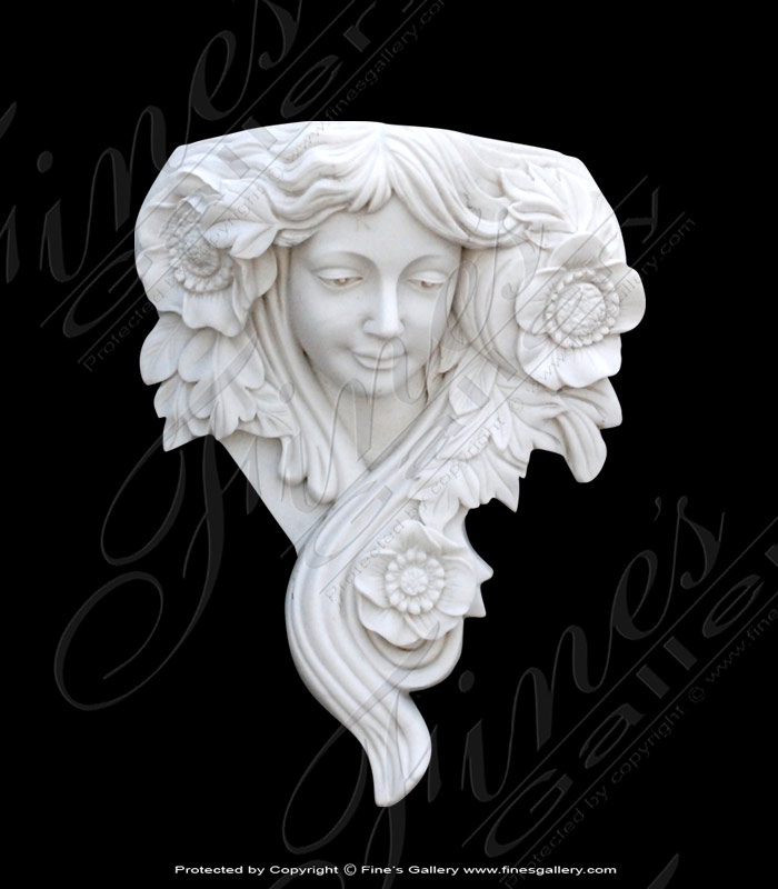 Female Marble Wall Statue
