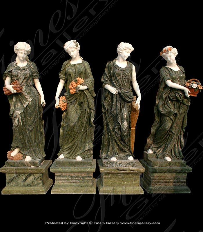 Marble Statues  - Greek Women Statue Set - MS-675