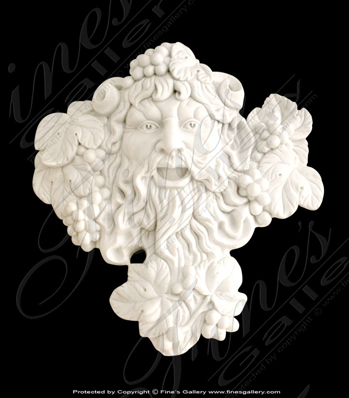 Marble Bacchus Wall Mount