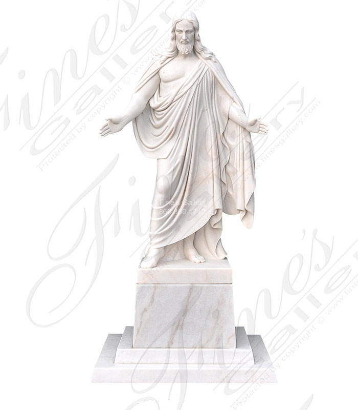 Search Result For Marble Statues  - White Marble Jesus Statue - MS-1164