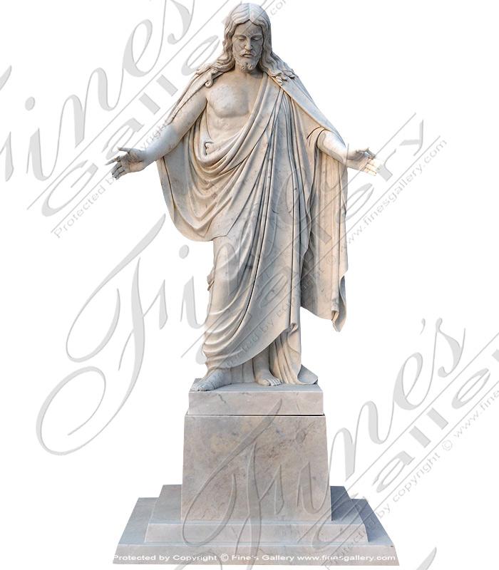 White Marble Jesus Christ Statue