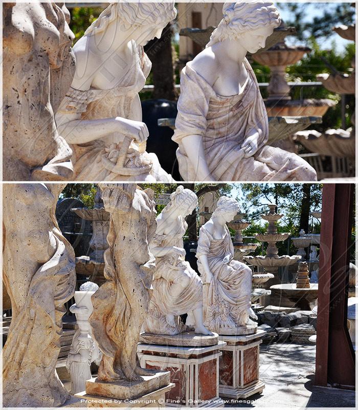 Grecian Women Marble Statues