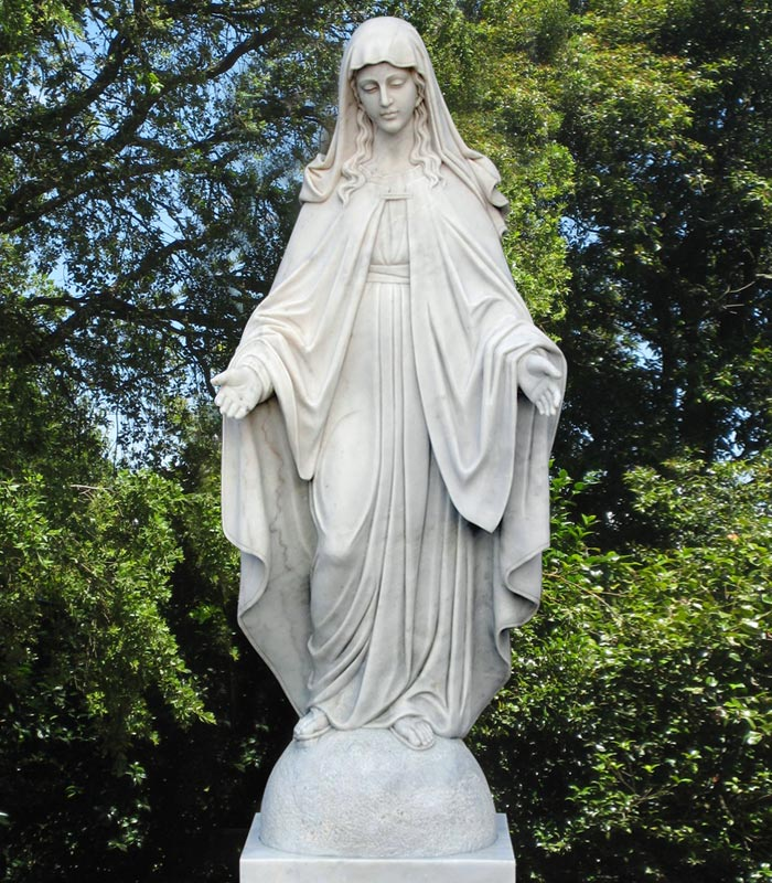 Marble Immaculate Conception Statue