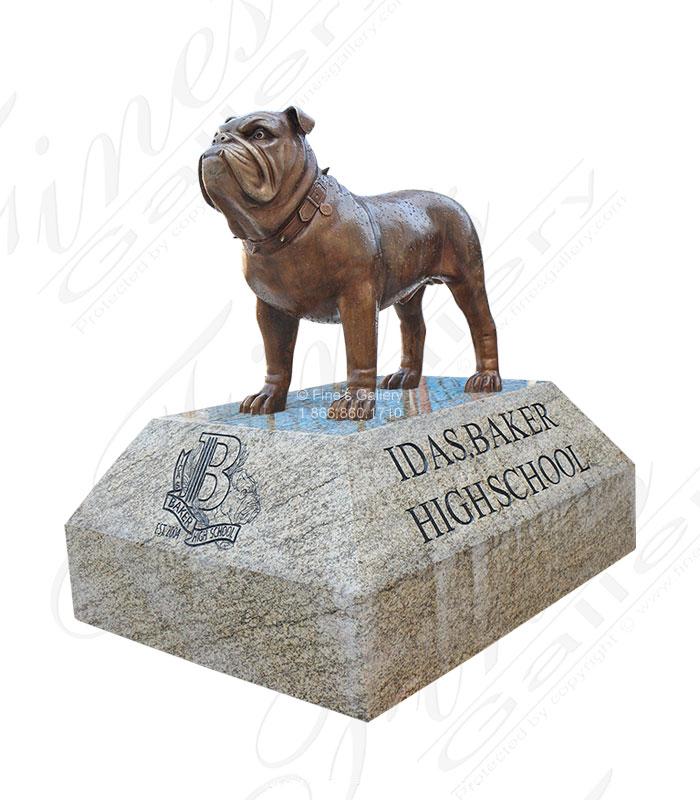 Bronze Bulldog Mascot