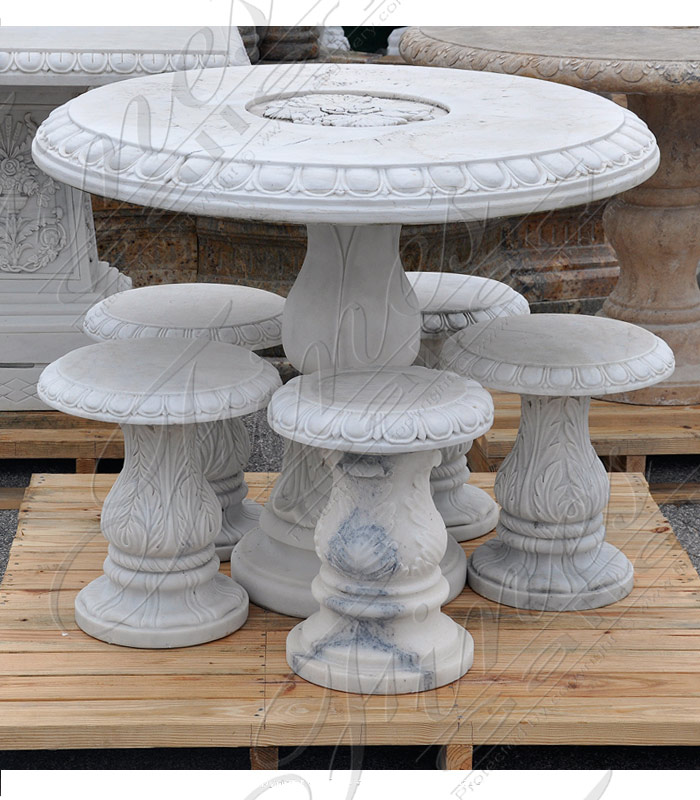 Outdoor Marble Dining Table