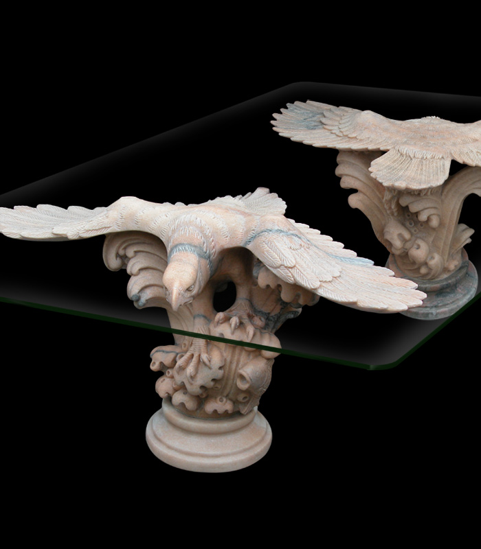 Soaring Eagles Marble Table