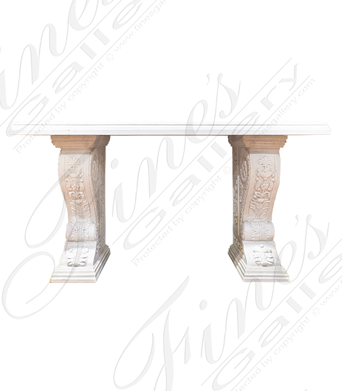 Pure White Marble Credenza Foyer Table