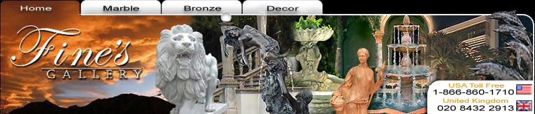 Italian Gallery Marble and Bronze Fountains and Statues, Fireplaces and much more...