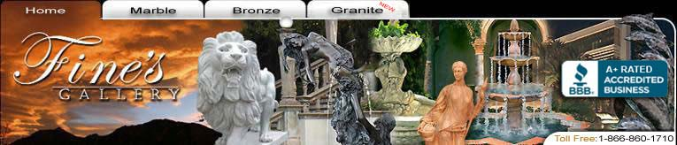 Marble Fireplaces, Marble Fountains, Marble Statues, Architectural Marble and Artistic Bronze Designer Products...