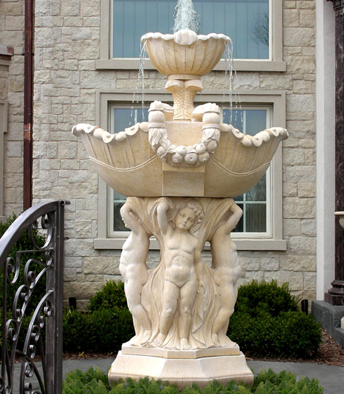 Statuary style Marble fountains