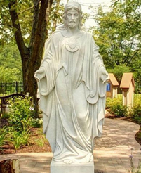 Marble Sacred Heart of Jesus Statue