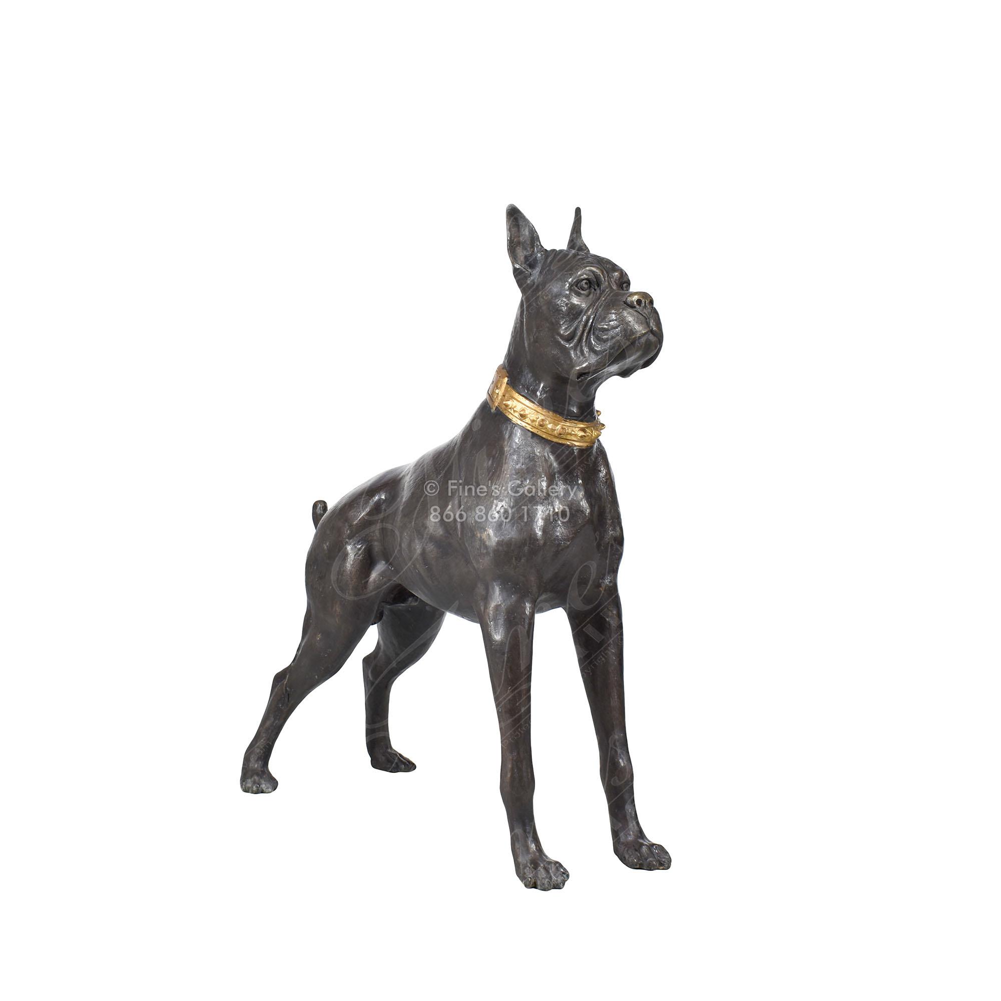 Bronze Statues Bronze Statue Of Boxer Dog Bs 153 Fine S Gallery Llc